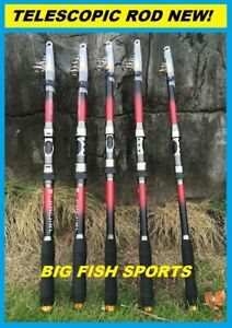 TELESCOPIC SPINNING ROD Heavy Duty * PICK YOUR SIZE * FREE USA SHIPPING!
