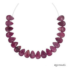 20 Pink Tourmaline Flat Teardrop Pear Beads ap. 4x6mm #84074