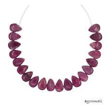 20 Pink Tourmaline Flat Teardrop Pear Beads ap. 4x6mm #84074