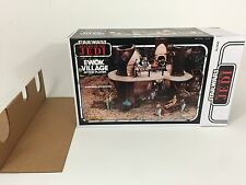 replacement vintage star wars rotj ewok village box and inserts