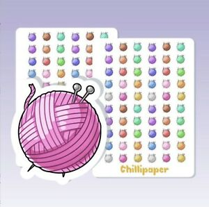 Cute knitting Planner Stickers, Filofax, Erin Condren, Happy Planner, Kawaii,
