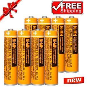 Panasonic NI-MH 550mAh 1.2V AAA Rechargeable Batteries for Cordless Phones KX-TG