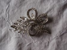 Vintage Lisner Clear Chaton and Marquis Rhinestone Brooch