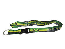 """32"""" Jamaica Jamaican Country Flag Lanyard With Detachable Key Ring"""