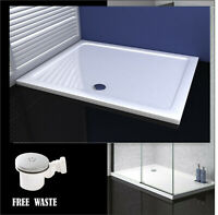 Shower Tray Enclosure Wet Room Rectangle Tray 1200x900mm Free Waste Trap