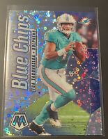 TUA TAGOVAILOA Mosaic Football Blue Chips Disco Prizm Parallel. No BC15 Dolphins