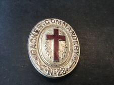 Mauch Chunk PA Knights Templar Packer Commandery No. 23 Vintage Belt Buckle