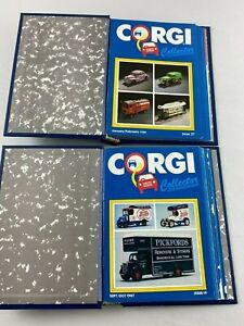 2 Vintage CORGI Collectors Club Toy Catalog Booklet Binders 1987-1990, 21 Issues