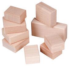 Bauklötze Spielsteine Holzklötze 9 Stück im Set unlackiert aus Buchenholz