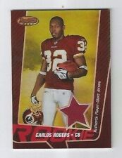 CARLOS ROGERS 2005 BOWMANS BEST RC ROOKIE JERSEY JSY CARD /199 REDSKINS 49ERS