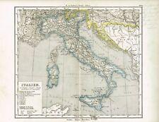 Karte von ITALIEN, Original-Graphik 1876