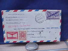Pan American Airlines Test Airmail Cover Nov 1 1946 Argentina ReadStory Enclosed