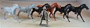 Marx Western Civil War Cavalry Horses - Set of 6