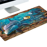 Non-slip Large Gaming Mousepad Mouse Pad Rubber Stitched Edges Desk Keyboard Mat
