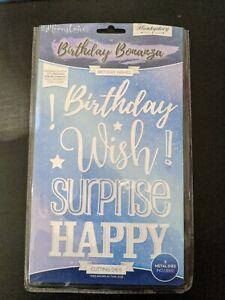 Hunkydory Moonstone Birthday Bonanza Birthday Wishes Die Set Excellent Condition