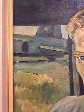 Restaurando Portrait RAF Royal Air Force firmato N PEN Symons 1945 Short Sterling