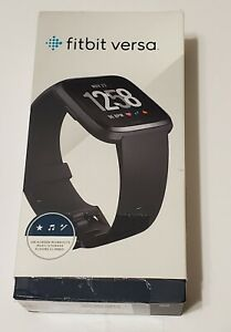 Fitbit Versa Fitness Smartwatch Small & Large bands - Black