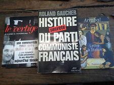Lot de 3 livres histoire secrète du parti communiste français Lettre à Staline