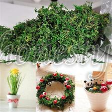 Green Artificial Reindeer Moss For Lining Plant Flower Garland Decor 50~200g