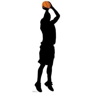 BASKETBALL PLAYER SILHOUETTE Lifesize CARDBOARD CUTOUT Standee Standup Prop