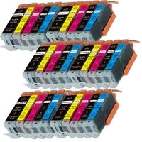 30PK Combo Printer Ink chipped for Canon 250 251 MG6600 MG6622 MX920 MX922