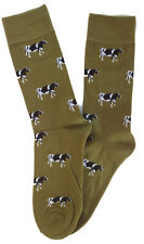 Cows Cow Cattle Themed Comfortable Well Made Socks in Green Perfect Gift