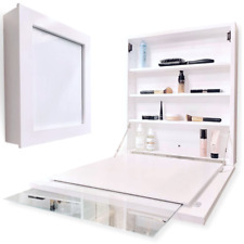 Flip Frame - White Medicine Cabinet, Over Toilet Bathroom Organization