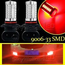 2pcs Red High Power 9006 HB4 33SMD LED For Car Fog Light Driving Bulbs Lamp