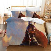 3PCS Star Wars The Mandalorian Bedding Set Quilt Cover Pillowcases Duvet Covers