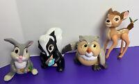 Disney Bambi Set of 4 Happy Meal Toys 1988 McDonalds Thumper Owl Flower