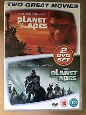 PLANET OF THE APES ~ 1967 Original & 2001 Remake | UK 2-Disc DVD