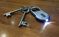 Am-Tech Quality 2 In 1 beer Bottle Opener key ring With Super Bright Led Torch