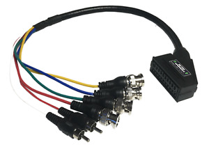 Female SCART to BNC adapter cable for Sony PVM BVM CRT Extron
