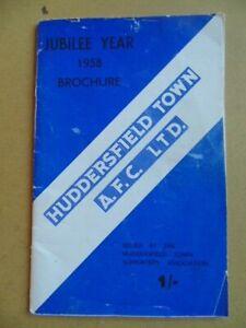 HUDDERSFIELD TOWN 1958  JUBILEE YEAR BROCHURE/HANDBOOK