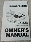 ERTL Camaro Z28 Owner's Manual