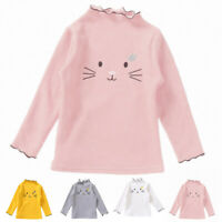 Toddler Kids Baby Girl Spring Casual Cotton Long Sleeve Shirt Blouse Top T-shirt