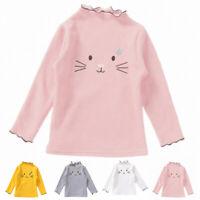 Toddler Kids Baby Girl Spring Casual Cotton Long Sleeve Shirt Blouse Top T-shirt