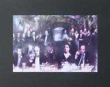 SCARFACE GODFATHER GOODFELLAS THE SOPRANOS 16x20 SIGNED PASTEL REPRINT BY HAIYAN