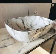 460*320*135 Black edge white Above Counter Top PorcelainBasin Bathroom Vanity