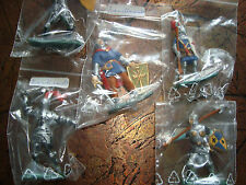 !!! 5 RARE, ORIGINAL PACKED AND HANDPAINTED KNIGHTS (TIMPO?) - SCALE 1:32 !!!