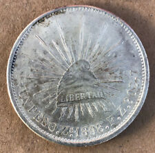 1898 Zs FZ Un Peso High Grade Type I Mexico Silver,Very Nice Coin