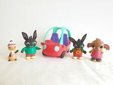 Bing Bunny Flop Car Playset with Bing Sula Autum Day Bing & Flop Figures Toys