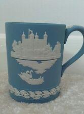 Collectable Wedgwood Blue Jasperware Christmas Mug for 1973