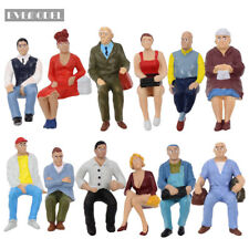 P2509C 12pcs G scale Figures 1:22.5-1:25 All Seated Painted People Model Railway