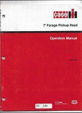 Original Case International 7 foot Forage Pickup Head Operators Manual 9-22881