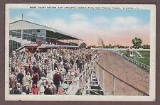 West Coast Racing & Athletic Association Dog Track Tampa Florida Postcard