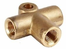 BRASS tee piece brake clutch  t 3/8 UNF x 24 TPI 3/16 For Brake Pipe