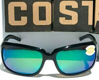 NEW* COSTA ISABELA Black polished w POLARIZED Green 580P Womens Sunglass IB 11