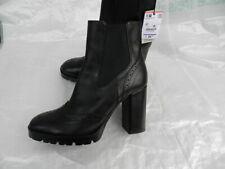 ZARA Stiefel Ankle Boots Schwarz Leder Stiefeletten  Gr.40 NEU