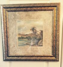 Palm Tree Home Decor Framed In Gold